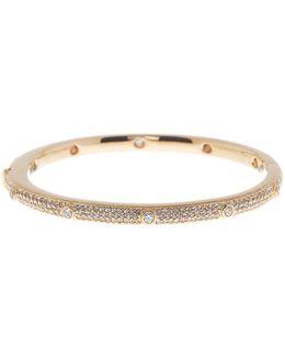 Crystal Pave Bezel Bangle Bracelet