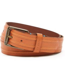 Stitch Detail Leather Belt