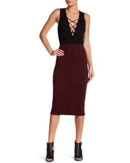 Classic Pull On Gingham Print Skirt