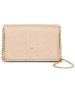Melodyy Highbox Leather Convertible Clutch