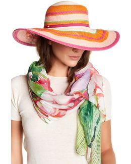 Wide Brim Stripe Sun Hat
