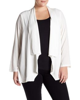 Long Sleeve Cardigan (plus Size)
