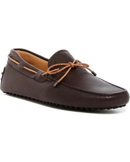 Pebbled Leather Moccasin Driver