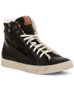 D-velows Dstring Plus Faux Shearling Sneaker