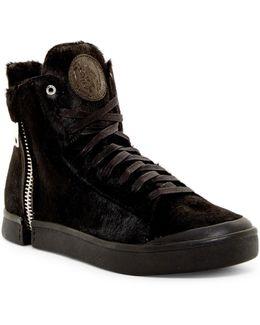 Zip-around Genuine Calf Fur S-nentish Special Hi-top Sneaker