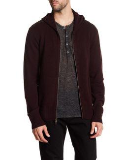 Long Sleeve Cashmere Zip Front Jacket