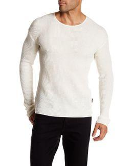 Thermal Drop-shoulder Pullover
