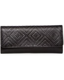 Sadie Embossed Leather Trifold Wallet