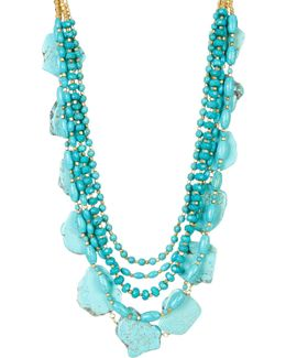 Turquoise Nugget Statement Necklace