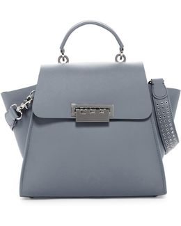 Eartha Iconic Top Handle Leather Satchel