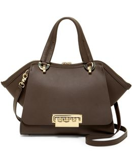 Eartha Iconic Small Leather Double Handle Bag