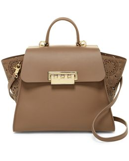 Eartha Iconic Leather Top Handle Bag