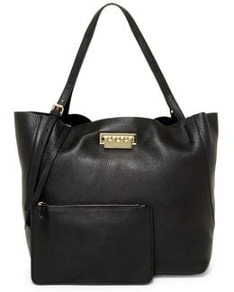 Eartha Relaxed Leather Shopper