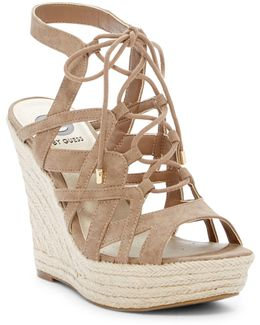 Dritta Lace-up Wedge Sandal
