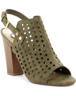 Jrake Perforated Open Toe Mule