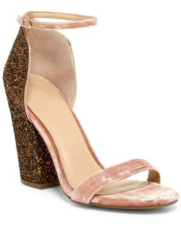 Bambam Glittery Heel Sandal