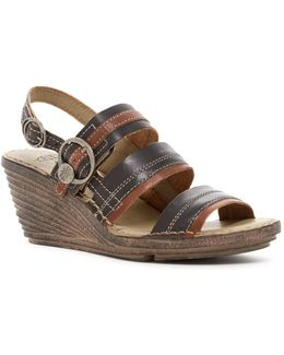 Salm Wedge Sandal
