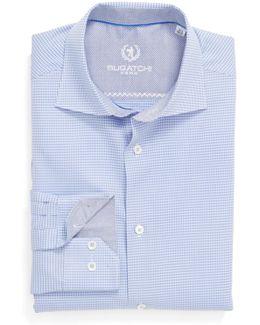 Checked Trim Fit Dress Shirt