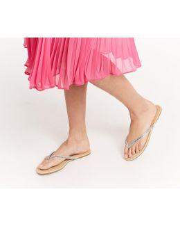Daisy Diamante Flip Flops