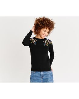 Embroidered Floral Knit