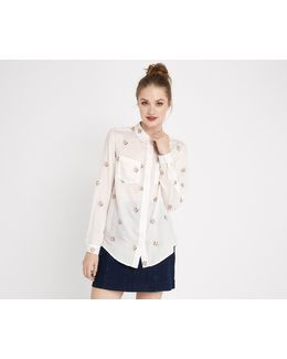Ditsy Embroidered Shirt