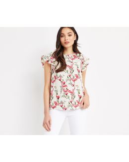Magnolia Frill Sleeve Top