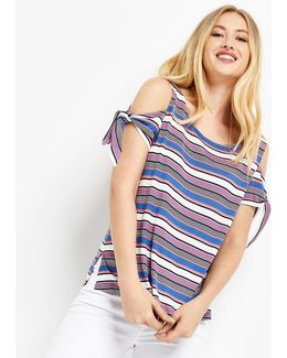 California Stripe Tee