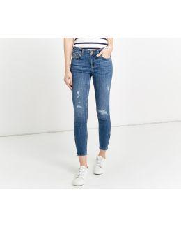 Sleek Zip Skinny Jeans