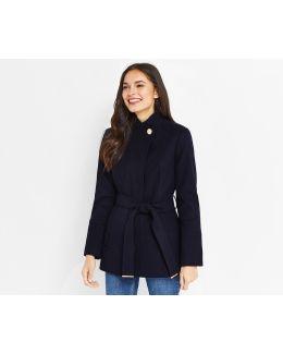 Leah Short Funnel Coat