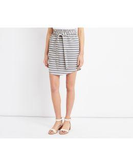 Stripe Paperbag Skirt