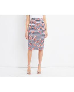 Flamingo Pencil Skirt