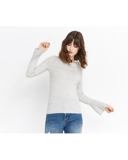 Fluted Sleeve Knit