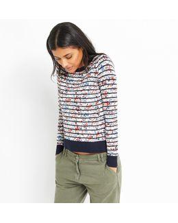 Printed Stripe Knit