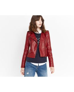 Lucy Faux-leather Biker