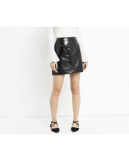 Patent Faux Leather Mini