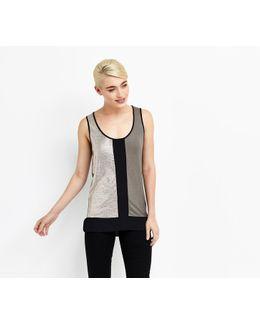 Shimmer Block Vest