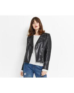 Hollie Leather Biker Jacket
