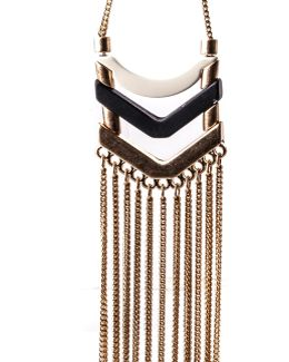 Chevron Tassle Earrings