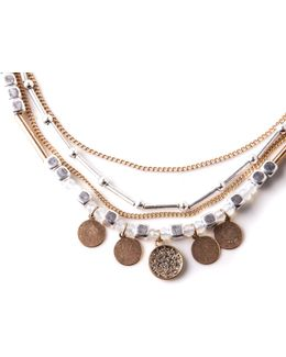 Layered Plated Necklace
