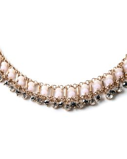Blush Beaded Collar