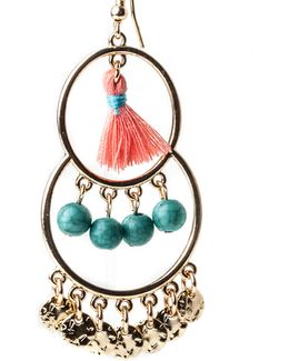 Tassle And Bead Earrings