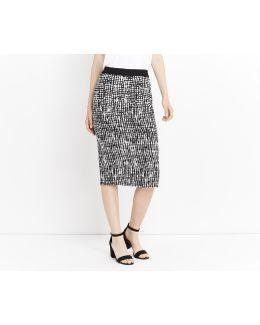 Texture Print Pencil Skirt