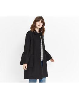 Kitty Frill Sleeve Coat