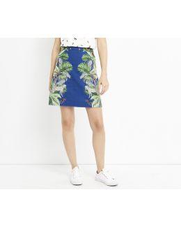 Zsl Cheetah Print Mini Skirt