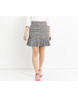 Flippy Mono Check Skirt