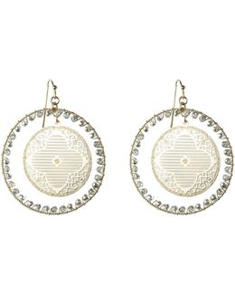 Filigree Disc Hoops