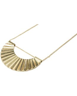 Crescent Disc Necklace