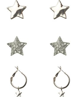 3pk Star Earrings