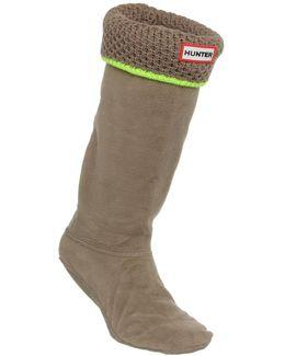 Neon Trim Boots Sock