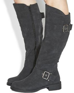 Easter Buckle Knee Boots